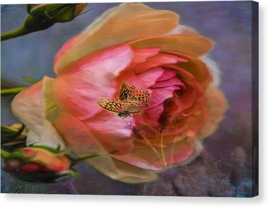 Rose Buttefly Canvas Print