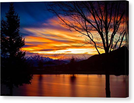 Rose Canyon Dawning Canvas Print
