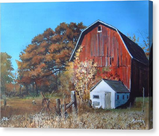 Rose Center Barn Canvas Print
