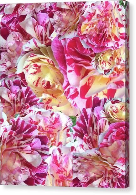 Rose Collage Canvas Print