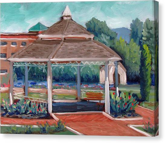 Rose Garden Gazebo Canvas Print