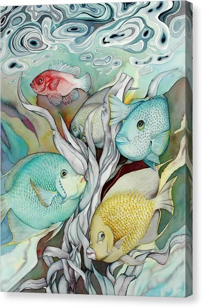 Rose Island Iv Canvas Print by Liduine Bekman