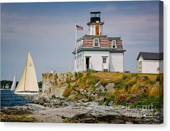 Rose Island Light Canvas Print