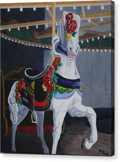 Rose Lead Horse Canvas Print