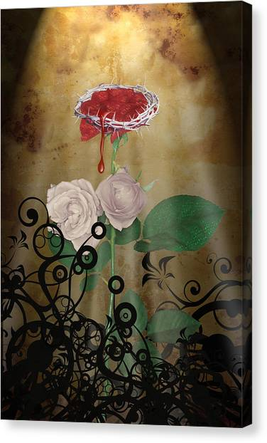 Lucky Canvas Print - Rose Of Sharon by Lucky Chen