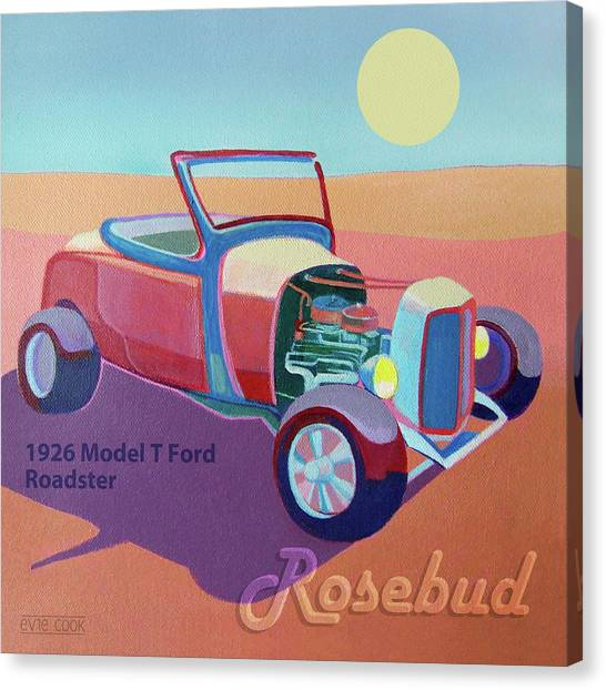 Rosebud Model T Roadster Canvas Print