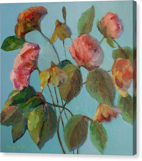 Roses And Wildflowers Canvas Print