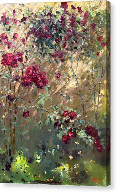 Red Roses Canvas Print - Roses Are Red by Ylli Haruni