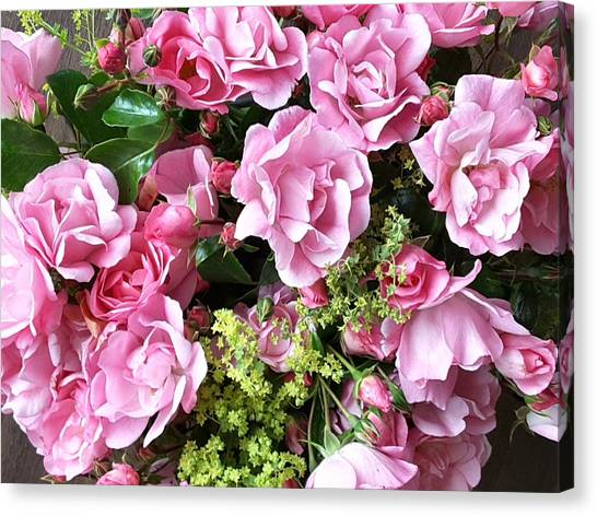 Roses From The Garden Canvas Print