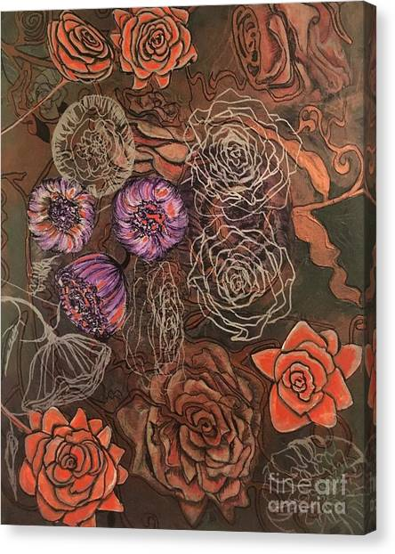 Roses In Time Canvas Print