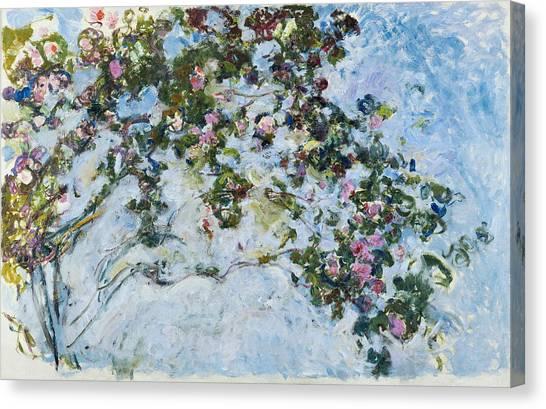 Wedding Bouquet Canvas Print - Roses Les Roses by Claude Monet