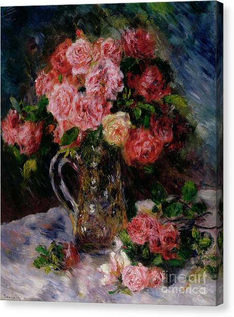Rose In Bloom Canvas Print - Roses by Pierre Auguste Renoir