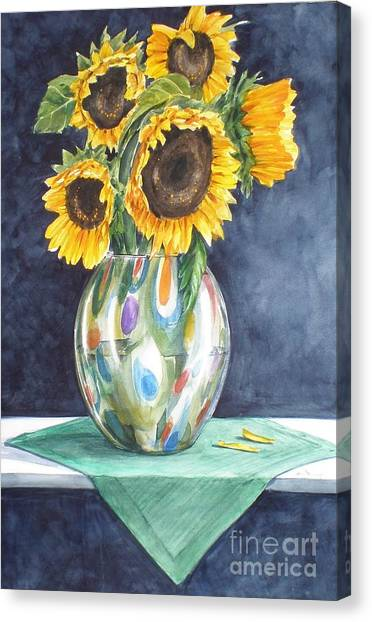 Rose's Sunflowers Canvas Print