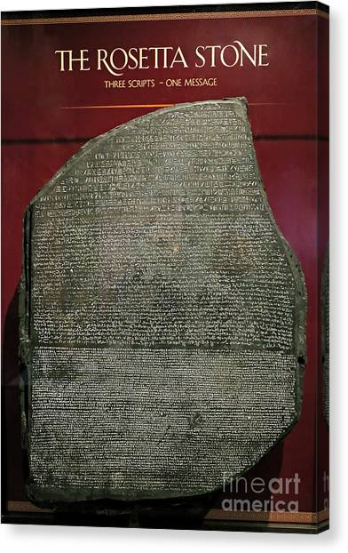 Rosetta Stone Replica Canvas Print