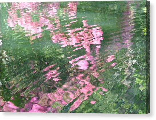 Rosey Ripples Canvas Print