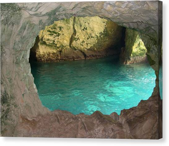 Rosh Hanikra I Canvas Print by Susan Heller