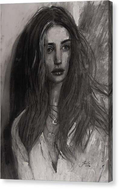 Rosie Huntington-whiteley Canvas Print