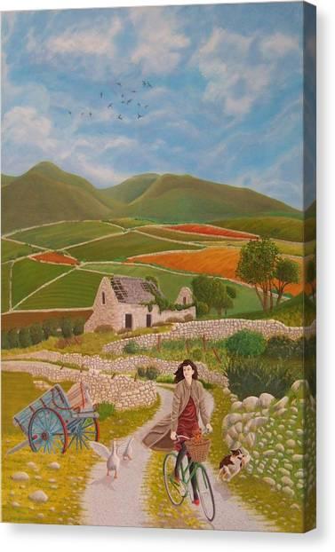 Canvas Print - Rosie Mccann by Michael McEvoy