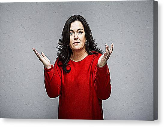 Rosie Odonnell Canvas Print - Rosie O'donnell by Queso Espinosa