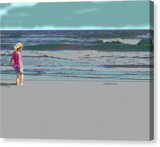 Rosie On The Beach Canvas Print