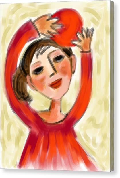 Rosie Red  Canvas Print