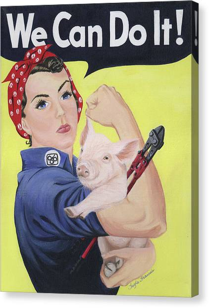Wrenches Canvas Print - Rosie The Rescuer by Twyla Francois
