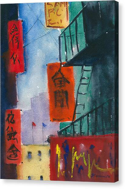Ross Alley, Chinatown Canvas Print