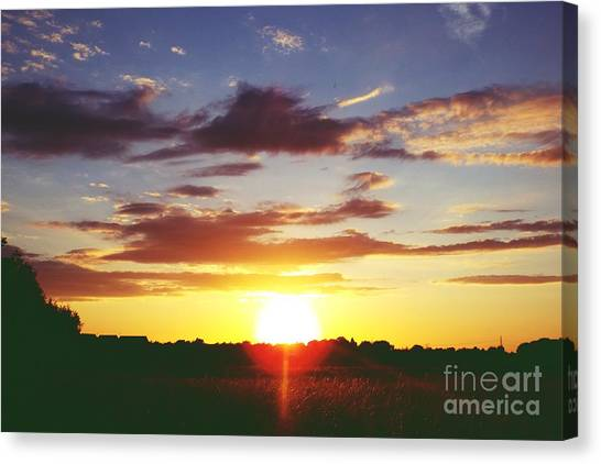 Rossington Sunset 2 Canvas Print