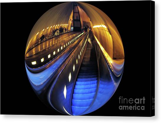 Rosslyn Metro Station Canvas Print