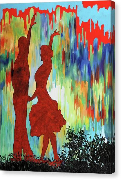 Tango Canvas Print - Rosso Di Sera by Guido Borelli