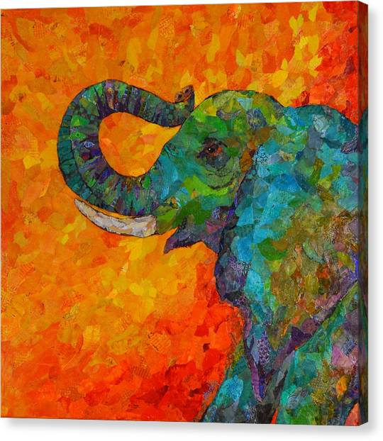 Rosy The Elephant Canvas Print