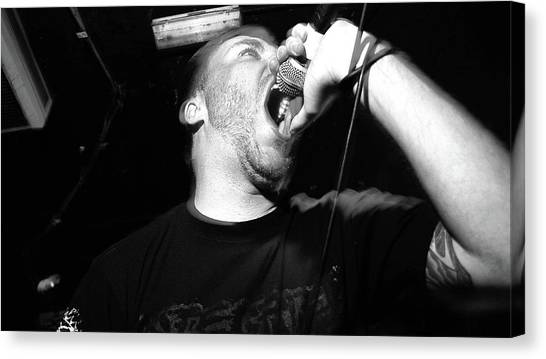 Microphones Canvas Print - Rot In Hell by Maye Loeser