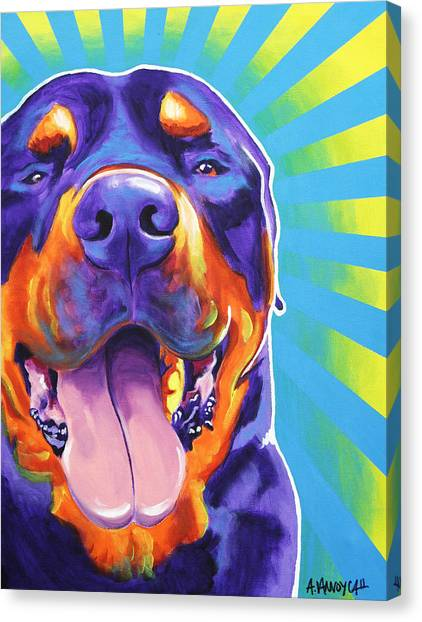 Rottweilers Canvas Print - Rottweiler - Duncan by Alicia VanNoy Call