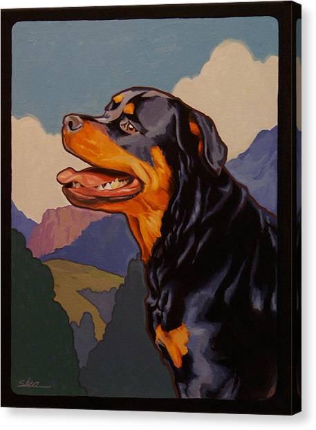 Rottweilers Canvas Print - Rottweiler In Rottweil by Shawn Shea