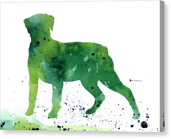 Rottweilers Canvas Print - Rottweiler Silhouette Abstract Poster by Joanna SzmerdtRottweiler silhouette abstract poster