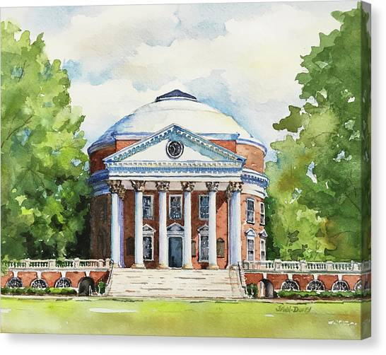 University Of Virginia Canvas Print - Rotunda At The University Of Virginia by Jan Finn-Duffy