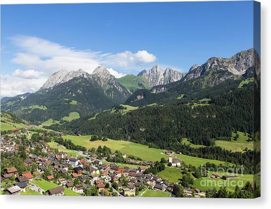 Rougemont Village In Switzerland Canvas Print