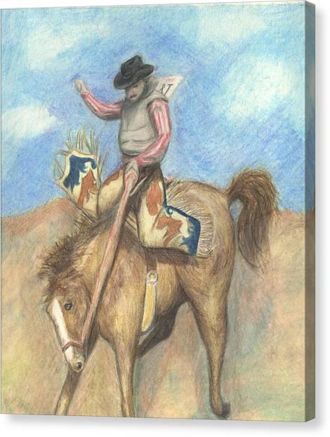 Rough Rider Canvas Print by Jennifer Skalecke