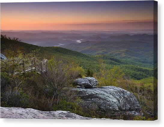 Blue Ridge Parkway Canvas Print - Rough Ridge Dawn by Andrew Soundarajan
