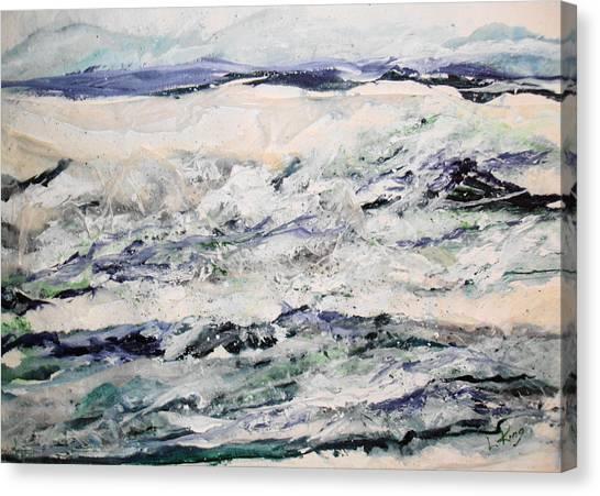 Rough Sea Canvas Print by Linda King