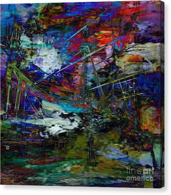 Us Civil War Canvas Print - Rough Seas Ahead by Beverly Guilliams
