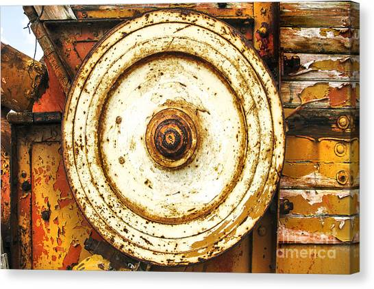 Round And Around And Canvas Print by Kim Lessel