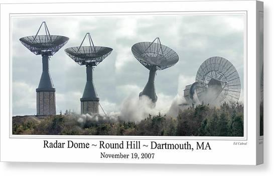 Round Hill Radar Demolition Canvas Print