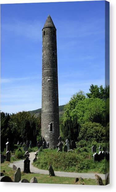 Round Tower At Glendalough Canvas Print