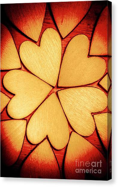Heart Shape Canvas Print - Rounded Romance by Jorgo Photography - Wall Art Gallery