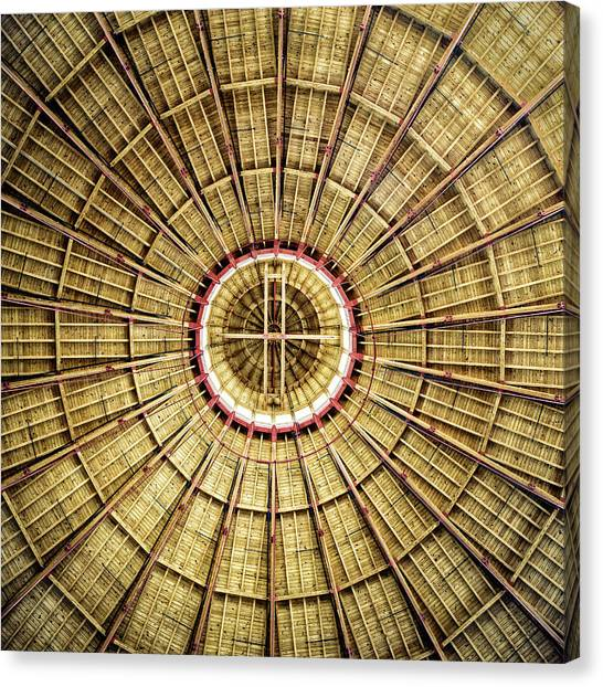 Balance Beam Canvas Print - Roundhouse Roof by Mark Summerfield