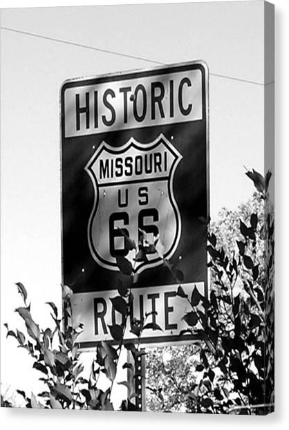 Route 66 Canvas Print by Audrey Venute