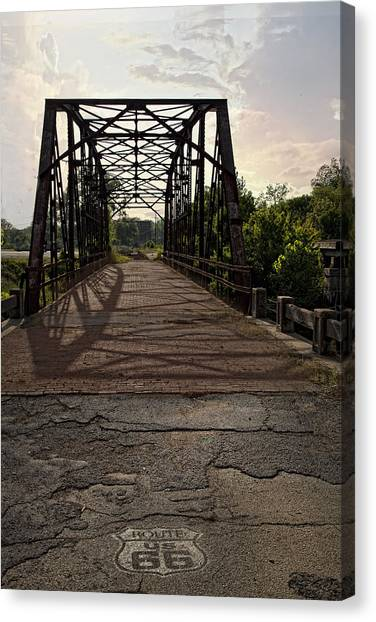 Route 66 Bridge Canvas Print