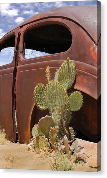 Route 66 Cactus Canvas Print