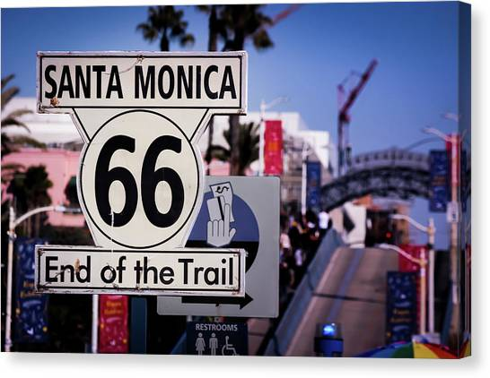 Route 66 End Of Trail Canvas Print